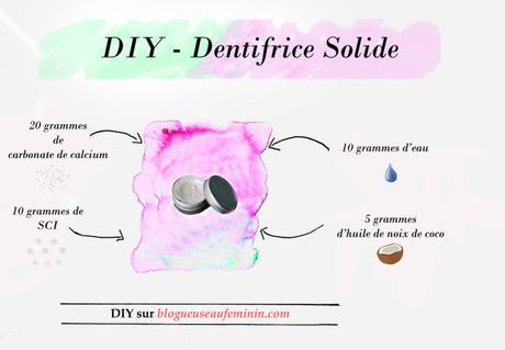 Comment faire un dentifrice solide ?
