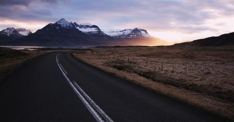 Une route en Islande (Þjóðvegur, Austurland)