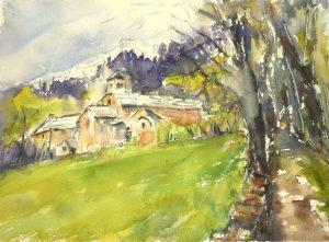 Le plaisir de peindre en plein-air : L'abbaye de Notre Dame de Boscodon