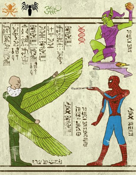 [INSOLITE] : l'illustrateur Josh Ln invente les super-Hiéroglyphes (et on en profite pour vous parler sérieusement du style graphique de l'Égypte antique)