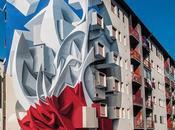 peintures murales tridimensionnelles l'artiste italien Peeta