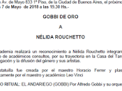 soir, Nélida Rouchetto l'honneur Academia Nacional Tango l'affiche]