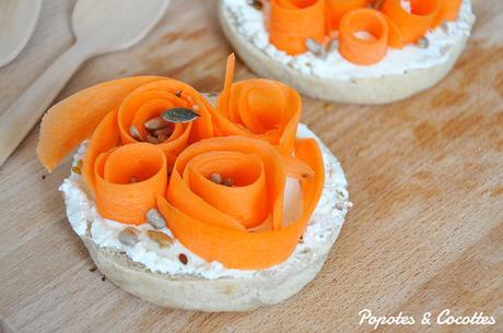 Muffin anglais aux tagliatelles de carotte