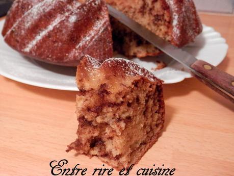 Gâteau à l'amande et au chocolat haché (sans beurre)