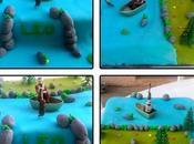 Gâteau anniversaire pêcheur