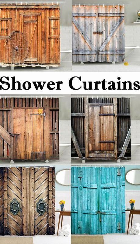 Rideau Pour Meuble Vintage Mildew Resistant Fabric Bath Shower Curtain