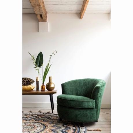 Envie d un fauteuil pour votre salon Laissez vous tenter par le fauteuil en velours Freux idéal pour chiller  la maison