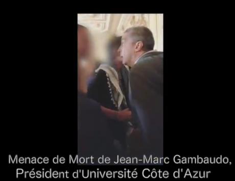 le Président de l'Université de Côte d'Azur menace de mort un étudiant anti #ORE
