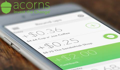 Acorns sur mobile