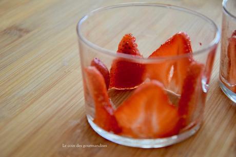 Verrines express aux fraises et spéculos