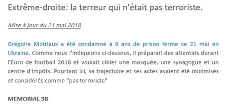 Grégoire M., terroriste d'extrême-droite à l'étranger… mais pas en fRance !