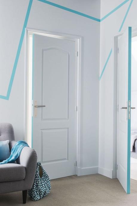 idée décorer une porte motif tranche blog déco clemaroundthecorner