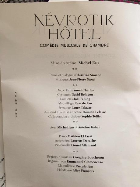 NevrotiK Hôtel  : comédie musicale de chambre