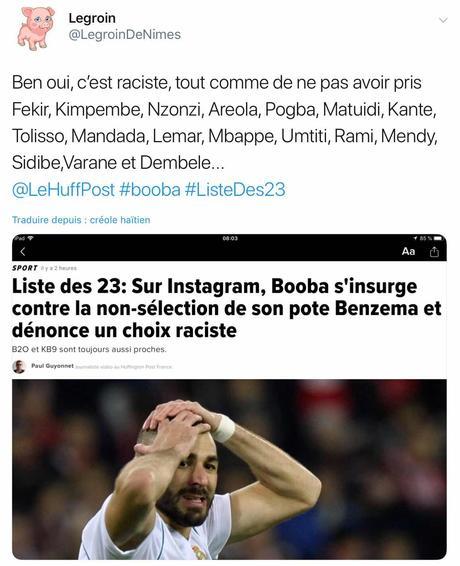 Benzema ou le racisme en équipe de France