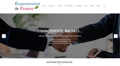 Nom, logo et site pour Ecopreneuriat de France [cas client]