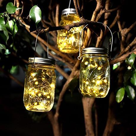 diy photophore bocal en verre deco arbre mariage exterieur blog ball mason jar