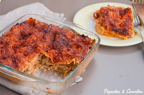 Lasagnes aux asperges vertes et à la tomate