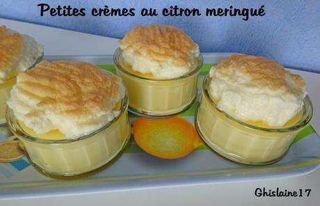 Petite crème au citron meringué