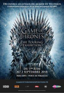 Games of Thrones, The Touring Exhibition à Paris