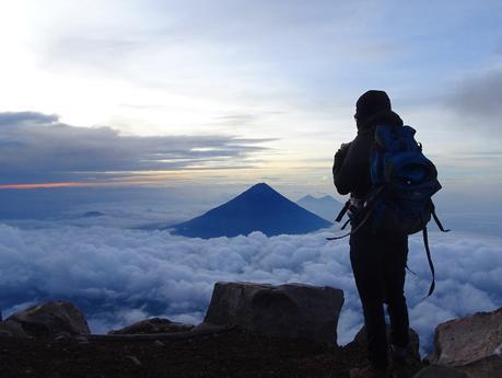 ascension du volcan acatenango sommet