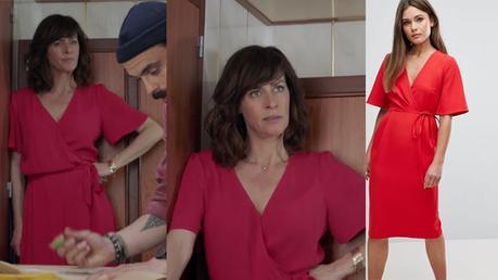 DEMAIN NOUS APPARTIENT : nouvelle robe rouge pour Flore Vallorta dans l'épisode 229