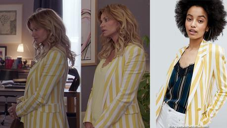 DEMAIN NOUS APPARTIENT : le blazer jaune et blanc de Chloé dans l'épisode 225