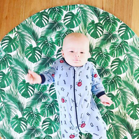 tapis feuille philodendron blog creation bricolage deco bebe clemaroundthecorner