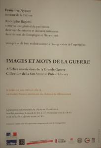 Musée Franco-Américain – Château de Blérancourt « Images et mots de la guerre »