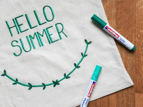 activite facile maitresse diy enfant totebag hello summer vert