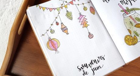 Bullet journal #5  Juin, un air d'été