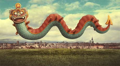 Les superbes affiches du nouvel an chinois à Madrid par BAKEA