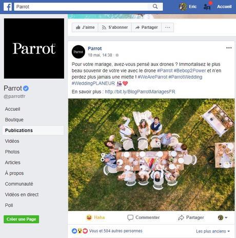 Quand Parrot utilise un DJI Phantom pour ses photos publicitaires