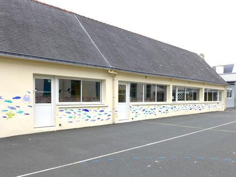 Fresque à l'école de Treffiagat