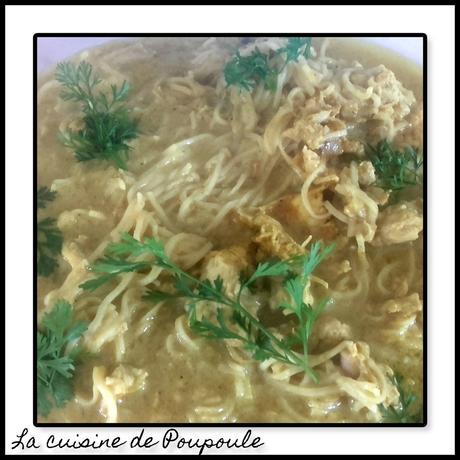 Nouilles chinoise façon thai au poulet