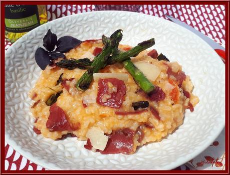 Risotto Tomates, Asperges et Bresaola