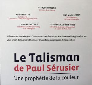 Musée de PONT-AVEN   « LeTalisman » de Paul Sérusier « Une prophétie de la couleur » 30 Juin 2018 au 6 Janvier 2019