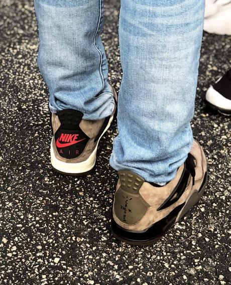 travis scott Air Jordan 4 Dark Grey