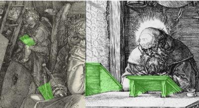 Durer 1514 Saint Jerome dans son etude ecritoires