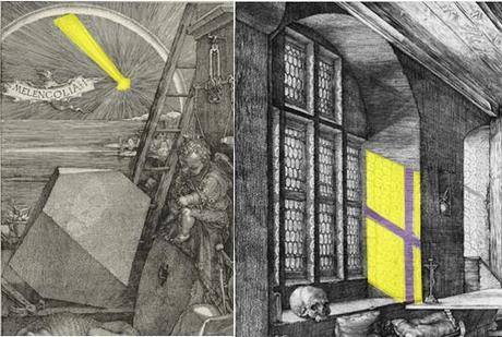 Durer 1514 Saint Jerome dans son etude lumieres