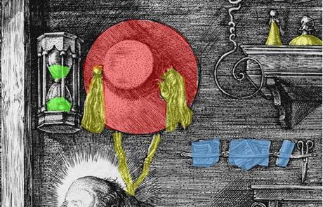 Durer 1514 Saint Jerome dans son etude chapeau spirale