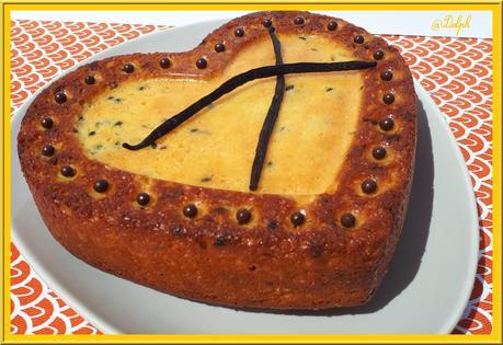 Gâteau au yaourt à  la Vanille et fruits de la Passion