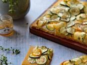 Tarte fine fromage frais courgettes