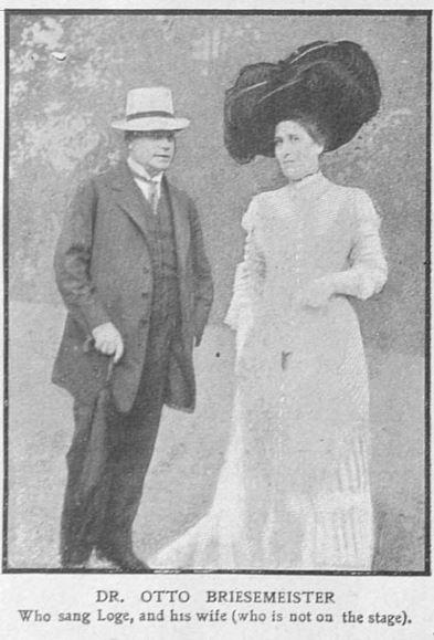 Bayreuth 1909. Le Dr Otto Briesemeister, médecin et chanteur  (The Graphic 7 )