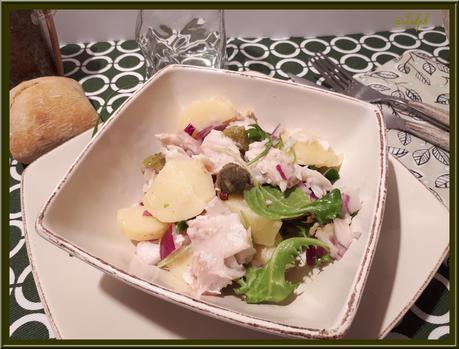 Salade de Pommes de Terre et Poisson Maigre Corvina Rex