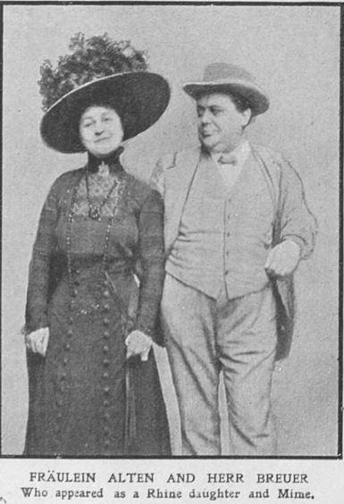 Bayreuth 1909.  Mlle Alten et Mr Breuer (The Graphic 8 )