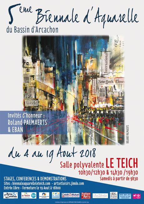 5ème Biennale d'aquarelle  du Bassin d'Arcachon