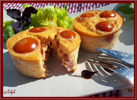 Frittatas au Comté, Tomates et Jambon