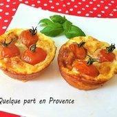 FRITTATAS AU COMTE, TOMATES ET JAMBON CRU - quelque part en Provence