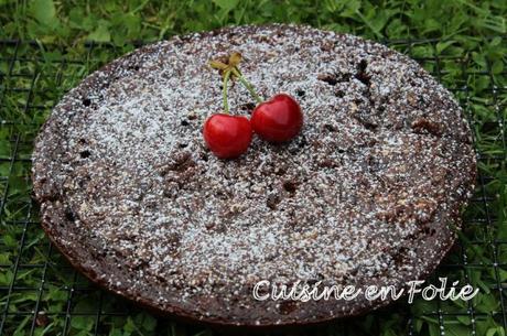 Mon moelleux chocolat-cerise à la poêle