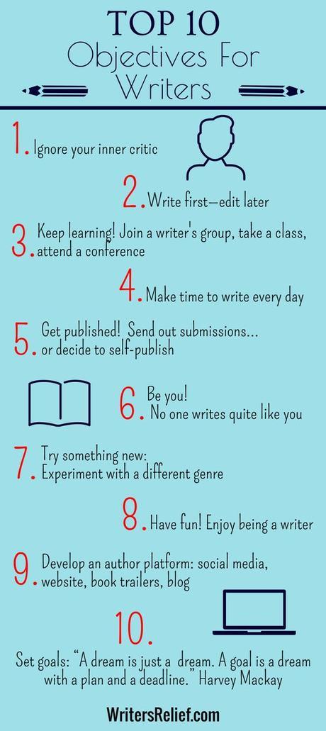 10 objectifs (réalistes) pour auteur(e)s